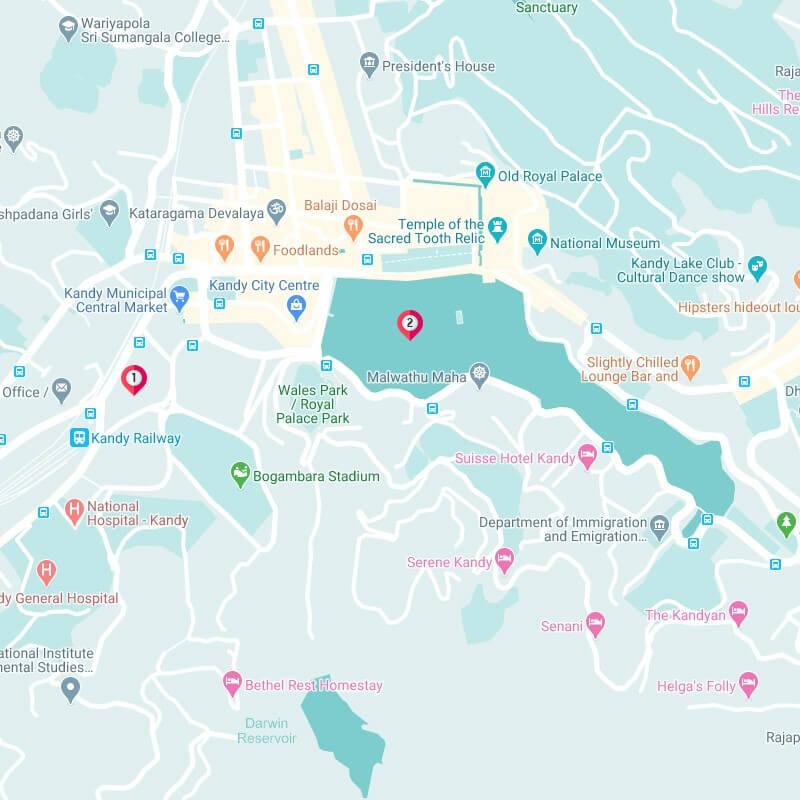 kandy lake map